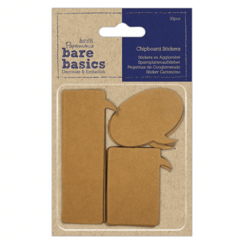 Papermania CHIPBOARD STICKERS (30PCS) - BARE BASICS