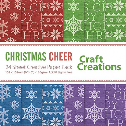 Craft Creations Christmas Cheer - 24 sheet Creative Paper Pack