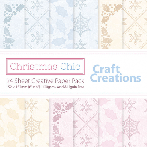 Craft Creations Christmas Chic - 24 sheet Creative Paper Pack