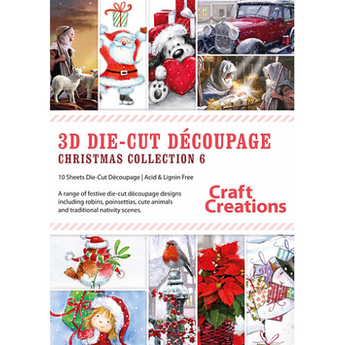Craft Creations Christmas Collection 6 - 10 Assorted A4 Sheets