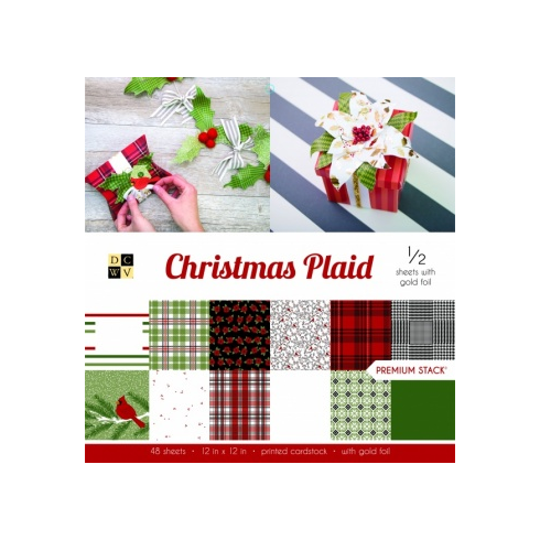 Creative Expressions Christmas Plaid Premium Paper Stack