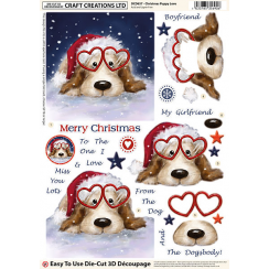 Craft Creations Christmas Puppy Love