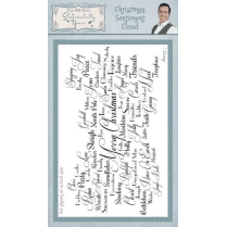 Phill Martin Christmas Sentiment Cloud Pre Cut Stamp Set
