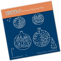 Groovi Christmas Tree Baubles - Baby A6 Square