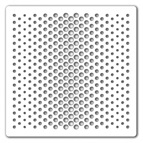 Clarity Claritystamp Dotty Wave Stencil 7 x 7 Inch