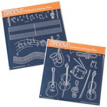 Claritystamp Ltd Music Groovi Plate Set