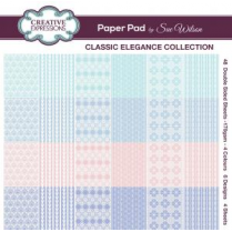 Creative Expressions Classic Elegance Collection 8 x 8 Paper Pad by Sue Wilson