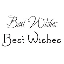 Woodware Clear Just Words Stamps - Best Wishes BA2660