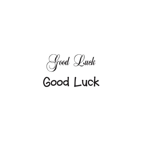 Woodware Clear Just Words Stamps - good Luck BA3608