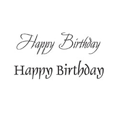 Woodware Clear Just Words Stamps - Happy Birthday BA6090