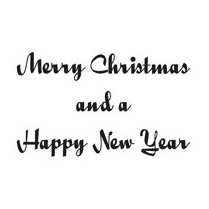 Woodware Clear Just Words Stamps Merry Christmas & a Happy New Year
