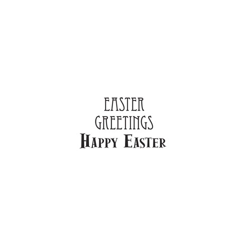 Woodware Clear Magic Singles - Easter Greetings