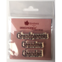 Woodware Clear Magic Singles - Grandparents Grandma Grandad