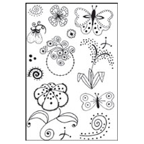 Woodware Clear Magic Stamps - Dotty Flowers