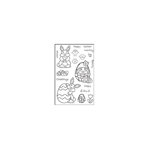 Woodware Clear Magic Stamps - Easter Bunnies