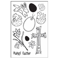 Woodware Clear Magic Stamps - Easter Time