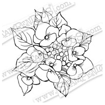 Stampendous Cling Hydrangea Lacecap