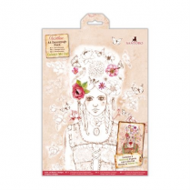 Docrafts Colour Me In A4 Decoupage Pack - Santoro