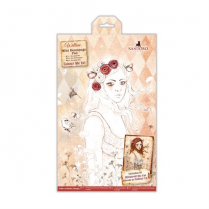 Docrafts Colour Me In Mini Decoupage Pad - Santoro