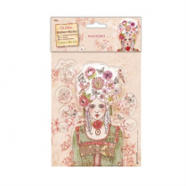 Docrafts Colour Me In Rubber Stamps - Santoro - Marie-Antoinette