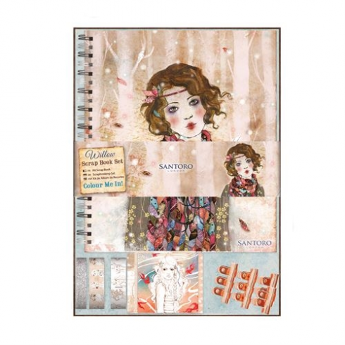 Docrafts Colour Me In Scrap Book Set - Santoro