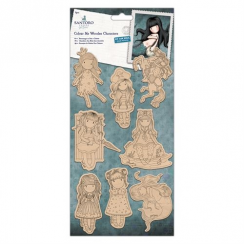 Gorjuss Colour Me Wooden Characters (8pk) - Santoro