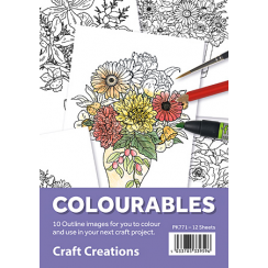 Craft Creations Colourables Floral Set 1