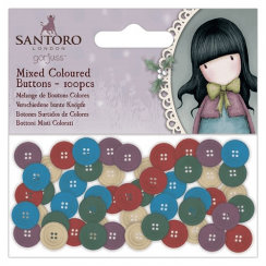 Gorjuss Coloured Mixed Buttons (100pcs) - Santoro
