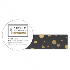 Papermania Craft Tape (3m) - Elements Metallics - Gold Spot