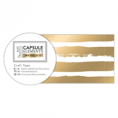 Papermania Craft Tape (3m) - Elements Metallics - Gold Stripe