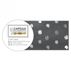 Papermania Craft Tape (3m) - Elements Metallics - Silver Spot
