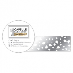 Papermania Craft Tape (3m) - Elements Metallics - White & Silver