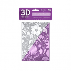 "Crafters Companion 5"" x 7"" 3D Embossing Folder - Country Garden"