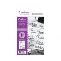 Crafters Companion A6 Unmounted Rubber Stamp - Noel