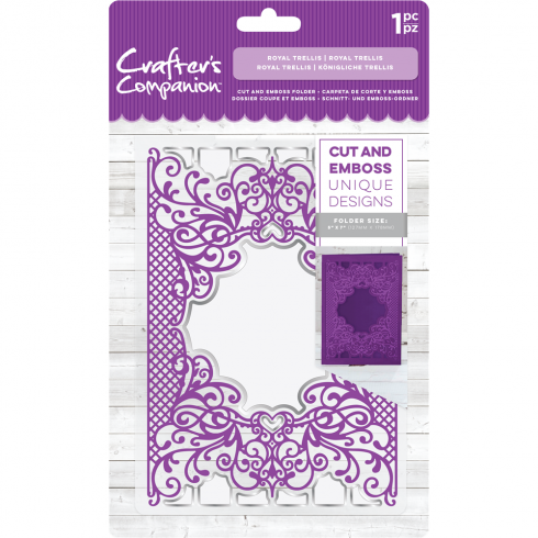 Crafters Companion Cut and Emboss Folder - Royal Trellis