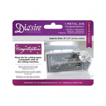 "Crafters Companion Diesire 5"" x 2"" Create a Card - Congratulations"