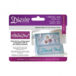 "Crafters Companion Diesire 5"" x 2"" Create a Card - Thank You"