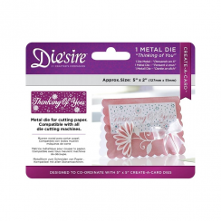 "Crafters Companion Diesire 5"" x 2"" Create a Card - Thinking of You"
