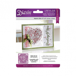 "Crafters Companion Diesire 5"" x 5"" Create a Card - Floral Lace Heart"