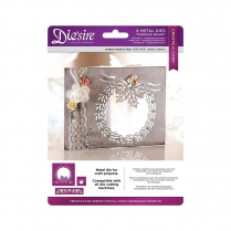 Crafters Companion Diesire - Christmas Create a Card Cut In - Traditional Wreath