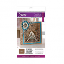 Crafters Companion Diesire Die Cut Fancy Card Blanks - Diorama (Kraft)