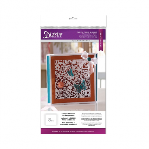 Diesire Crafters Companion Diesire Die Cut Fancy Card Blanks - Diorama (White)
