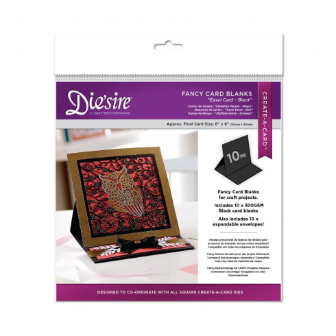 Diesire Crafters Companion Diesire Die Cut Fancy Card Blanks - Easel (Black)
