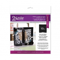 Crafters Companion Diesire Die Cut Fancy Card Blanks - Gatefold (Black)