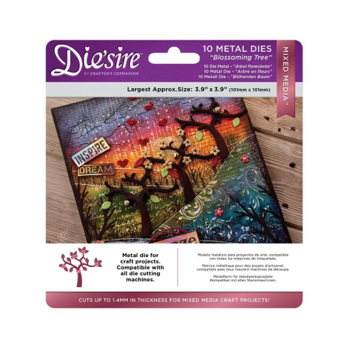 Diesire Crafters Companion Diesire Mixed Media Dies - Blossoming Tree