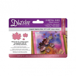 Crafters Companion Diesire Mixed Media Dies - Maple Leaves