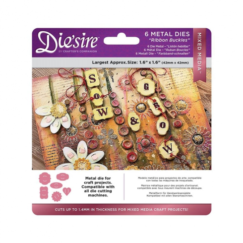 Diesire Crafters Companion Diesire Mixed Media Dies - Ribbon Buckles