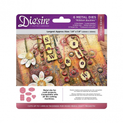 Crafters Companion Diesire Mixed Media Dies - Ribbon Buckles