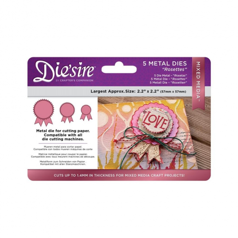 Diesire Crafters Companion Diesire Mixed Media Dies - Rosettes