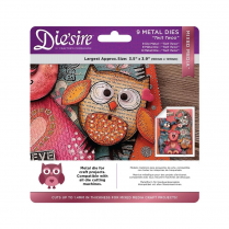 Crafters Companion Diesire Mixed Media Dies - Twit Twoo